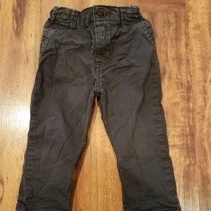 Oshkosh gray skinny chino pants size 18 months